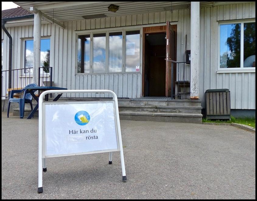 9 juni 2013 - Församlingshemmet i Töcksfors användes som vallolkal.