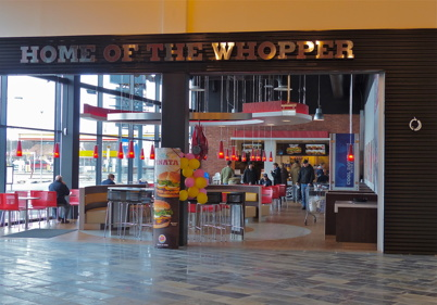 22 mars 2013 - Burger King i Töcksfors Shoppingcenter.