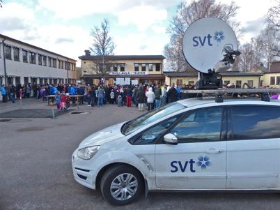 SVT var på plats och sände i Sverige Direkt + Värmlandsnytt.