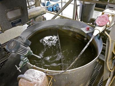 Ett reningssteg i äldre delen av reningsverket.
