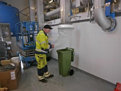 Förberedelser pågår i nya delen av reningsverket.