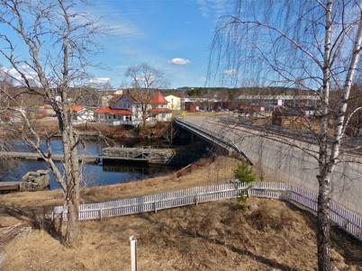 25 april 2013 - utsikt från Slussvaktarstugans övre våning.