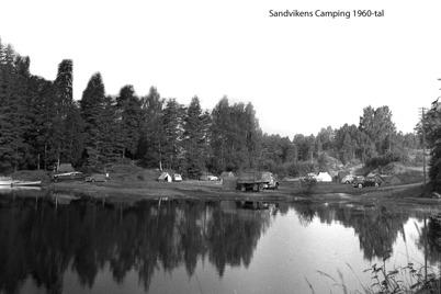 Sandvikens Camping på 1960-talet / foto : Bengt Erlandssons arkiv