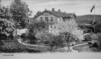 4. Töcksfors herrgård i början av 1900-talet. Foto : okänd
