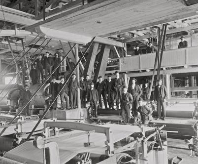 6. Pappersmassafabriken vid Bruket i början av 1900-talet. Foto : Axel Gunnar Ödvall / Årjängs kommuns bildbank