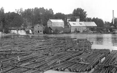 24. Töcksfors Bruk på 1920-talet. Foto : Axel Gunnar Ödvall / Årjängs kommuns bildbank