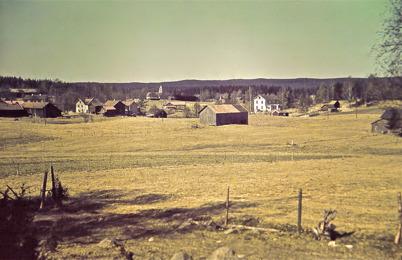 34. Utsikt från Dungen mot området vid övre slussen på 1940-talet. Foto : Hugo Hassel
