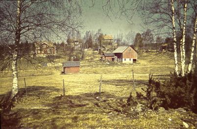 35. Utsikt från Dungen mot övre delen av Bögatan på 1940-talet. Foto : Hugo Hassel