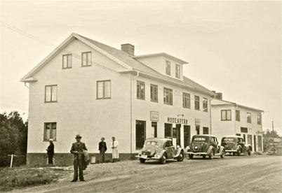 36. Patrikssons affärshus på 1940-talet. Foto : okänd