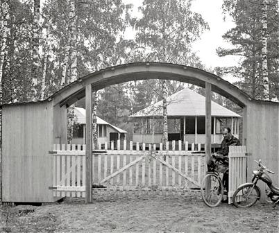 43. Töcksfors Folkets Park vid nuvarande Parkvägen på 1930 - 1940 talet. Foto : Fritz Arenö / Årjängs kommuns bildbank