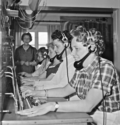46. Töcksfors manuella telefonstation på nuvarande Torudsvägen. Foto : Folke Sahlin