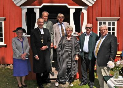 Per Nilsson, Sven Robertsson, Lisbeth Albinsson, Biskop Esbjörn Hagberg, Landshövding Eva Eriksson, Sven Emsell och Runar Patriksson.