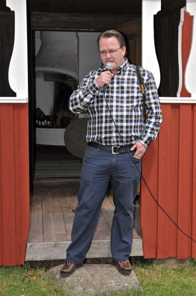 Bygdens egen journalist Christer Wik.
