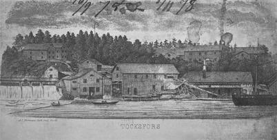 Töcksfors bruk på 1870-talet.