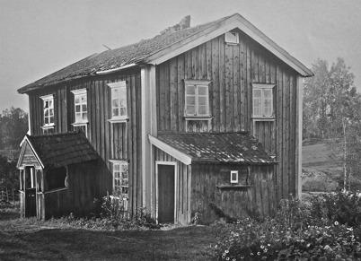 Tomta var 1870 den enda bostaden längs med Bruksgatan i Töcksmark - bild från 1923.