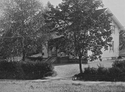 Gustafsberg, Ö.Bön, Töcksmark. Poststation från och med 1903. Bilden togs 1923.
