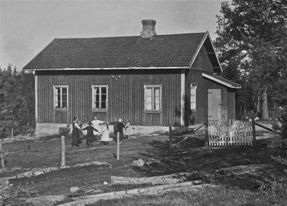 Östergårds skola med barnaskaran - 1923.