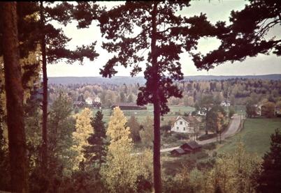 58. Vy över Älverudsområdet i början av 1950-talet. Foto : Uno Brander