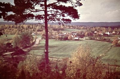 57. Vy över Töcksfors i början av 1950-talet. Foto : Uno Brander