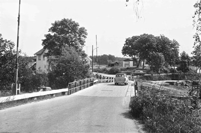 86. Gamla bron vid övre slussen på 1960-talet. Foto : Hugo Hassel