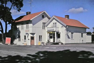 97. Gamla huset vid övre slussen på 1970-talet. Foto : Bengt Erlandsson