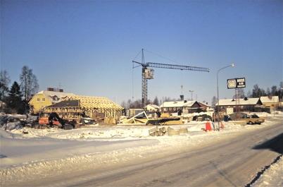 102. Nya vårdcentralen byggs 1985-1986. Foto : Bengt Erlandsson