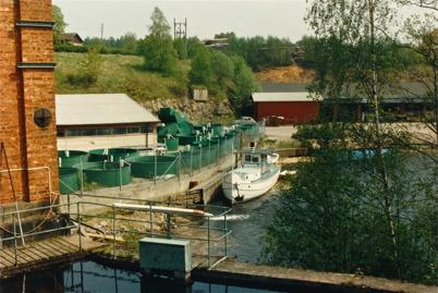106. Under en tid användes fabriken vid Bruket som fiskodling. Foto : Foke Sahlin