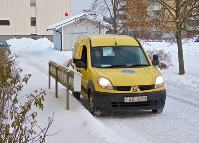 121. Postutdelningen rationaliserades, bild från 2010. Foto : Lars Brander