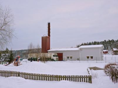 123. HL Energi startar utbyggnaden av fjärrvärmen i Töcksfors - 2010. Foto : Lars Brander