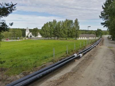 137. HL Energi har påbörjat utbyggnaden av fjärrvärmen i Töcksfors - 2010. Foto : Lars Brander