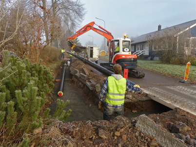 159. HL Energi fortsätter utbyggnaden av fjärrvärmenätet 2012. Foto : Lars Brander
