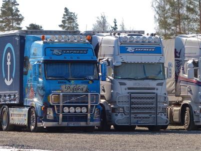 168. Trafiken med utländska lastbilar ökar på E18 - 2013. Foto : Lars Brander