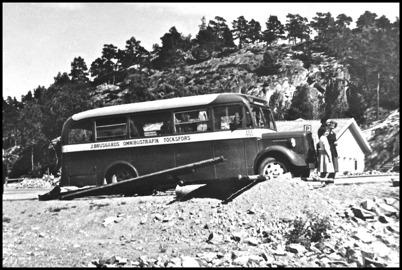 Volvo årsmodell 1945 - 25 passagerare - köpt begagnad 1951 för 5.000:-