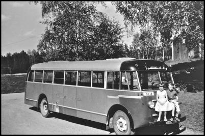 Scania årsmodell 1948 - 41 passagerare - köpt begagnad 1956 för 25.000:-