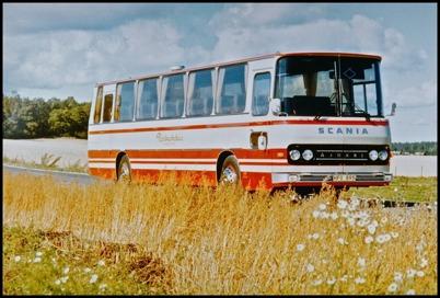 Scania BR 145 Ajokki årsmodell 1974 - 45 passagerare - köpt ny 1974 för 309.000:-