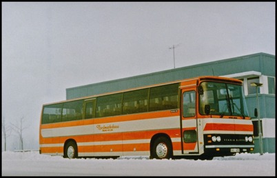 Scania BR 116 Ajokki 6000 årsmodell 1980 - 50 passagerare - köpt ny 1979 för 627.276:-