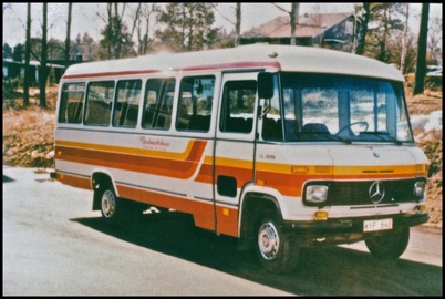 Mercedes 0 309 årsmodell 1980 - 24 passagerare - köpt ny 1980 för 302.477:-