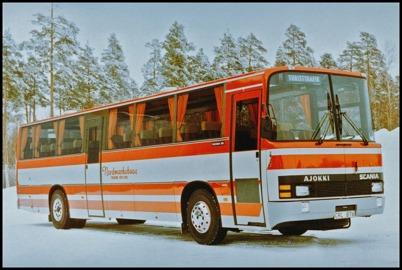 Scania BR 116 Ajokki 5000 E årsmodell 1982 - 51 passagerare - köpt ny 1982 för 808.663:-