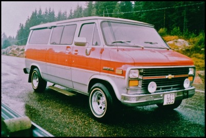 Chevrolet Sport Van årsmodell 1983 - 7 passagerare - köpt ny 1983 för 233.500:-
