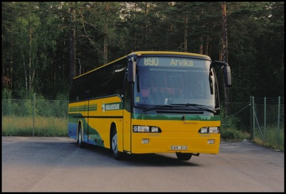 Volvo B10 M65 Ajokki Vector årsmodell 1997 - 54 passagerare - köpt ny 1997 för 2.165.000:-
