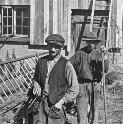 Karl och David Edvinsson på Ögårn i Sanda.