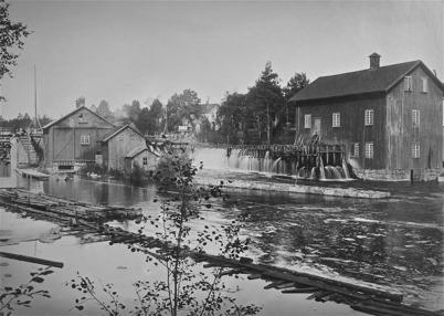 Kvarnen vid  övre forsen - 1925. Foto: Axel Gunnar Ödvall