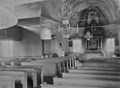 Töcksmarks kyrka före restaureringen 1923.