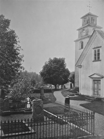 Töcksmarks kyrka, kyrkogården 1924.