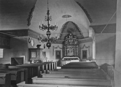 Interiör från Töcksmarks kyrka - efter 1925.