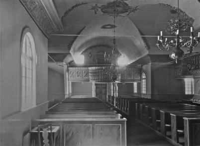 Töcksmarks kyrka efter 1925. Orgelläktaren