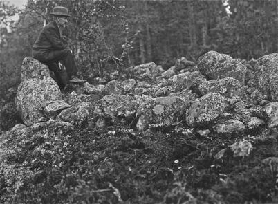 Raserad forngrav, Stommen Töcksmark 1923.