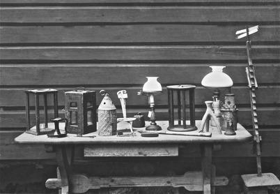 Nordmarksstugan, belysningsattiraljer - 1923.