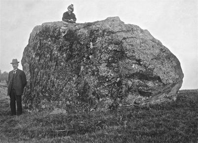 Jättekast i Ärttjärn, Töcksfors 1923. Överst Kajsa.