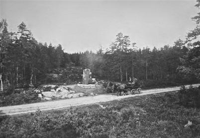 Riksgränsstenen vid vägen mellan Töcksfors och Örje.